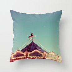 Crescent Moon Over Paris #2 Throw Pillow