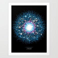 Gaming Supernova - AXOR Gaming Universe Art Print