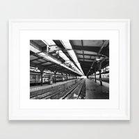 Train Station Framed Art Print
