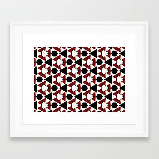 Van Steensel Pattern Framed Art Print