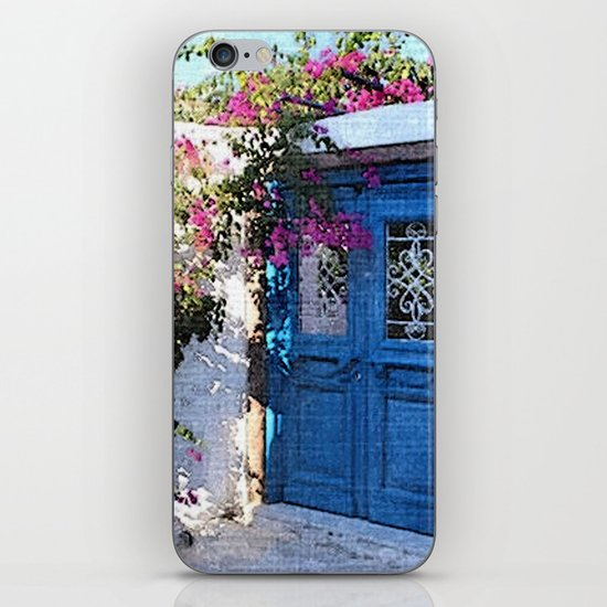 Santorini Doors iPhone & iPod Skin