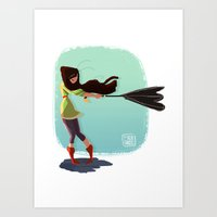 Autumn Girl Art Print