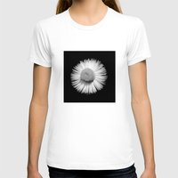 Fleabane B and W Womens Fitted Tee White SMALL