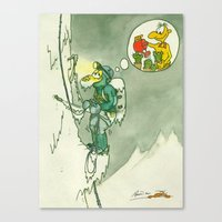 Climbing and Cactuses Canvas Print