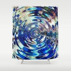 Water Element Ripple Pattern Shower Curtain
