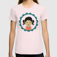 Pigtails Womens Fitted Tee Light Pink SMALL