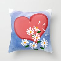 Loves Me, Loves Me Not Throw Pillow