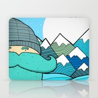 Blue Beard Laptop & iPad Skin