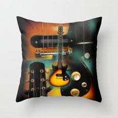 The Electric Guitar Throw Pillow