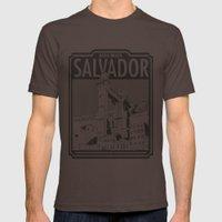 Salvador - Bahia - Brazi… Mens Fitted Tee Brown SMALL