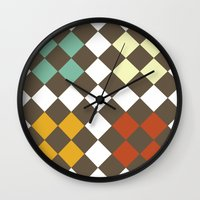 Checkers Fall Wall Clock