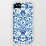 Pattern In Denim Blues O… iPhone (5, 5s) Slim Case
