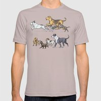 Trotting Terriers Mens Fitted Tee Cinder SMALL