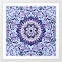 Lavender Meditation Kale… Art Print