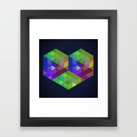 Fig. 028 - Heart & Hexag… Framed Art Print