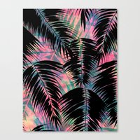 Maui Palm {Black A} Canvas Print