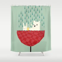 umbrella bath time! Shower Curtain