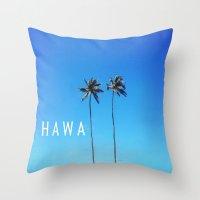 Hawaii Palm Trees Throw Pillow
