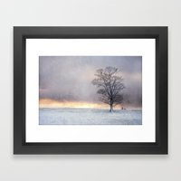 Winter Sunrise, Wramplin… Framed Art Print