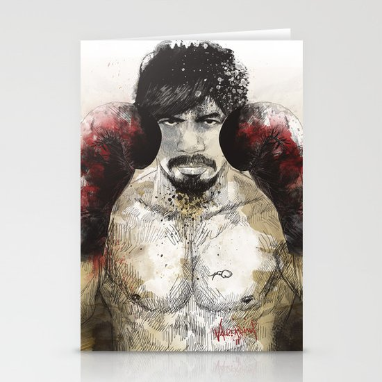 Manny Pacquiao - Bloody Gloves Stationery Card