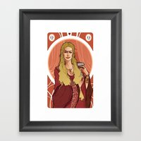 Regina Di Cuori Framed Art Print