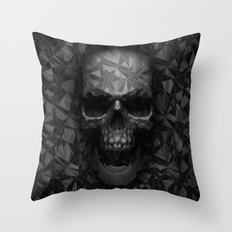 Geometric Skull Throw Pillow