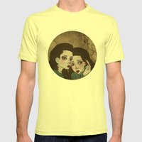 Twin Princesses Mens Fitted Tee Lemon SMALL