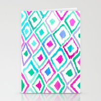 Watercolour Ikat II Stationery Cards