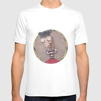 Mouse Club Dropout. Mens Fitted Tee White SMALL