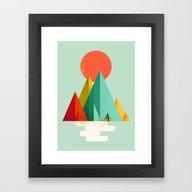 Little Geometric Tipi Framed Art Print