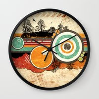 Retro Mash Up. Wall Clock