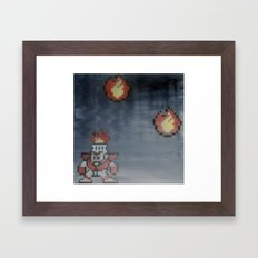Fire man (megaman 1) Framed Art Print