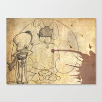Mad Hatter And March Har… Canvas Print