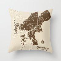 Gothenburg - The city & the sea Throw Pillow