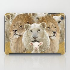 Lions led by a lamb iPad Case