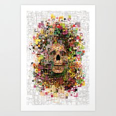 White Noise Art Print