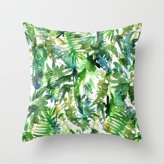 VIBE of the Jungle  {A-green} Throw Pillow