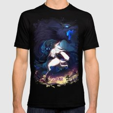 League of Legends - Kindred SMALL Black Mens Fitted Tee