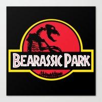 Bearassic Park Canvas Print