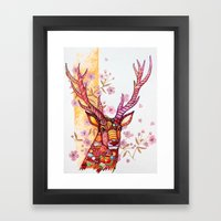 Candy Deer Framed Art Print