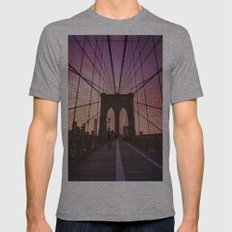 New York City  Mens Fitted Tee Athletic Grey SMALL