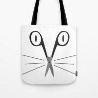scissors cat Tote Bag