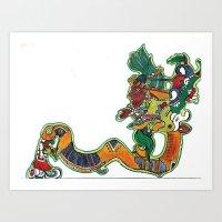 Maya Vision Serpent I Art Print