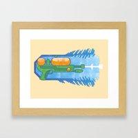 Supersoaker Framed Art Print