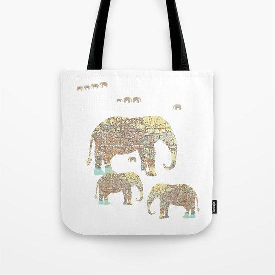 Follow That Elephant Tote Bag
