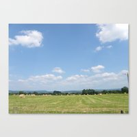 Beneath the Blue Sky Canvas Print