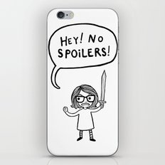 No Spoilers iPhone & iPod Skin
