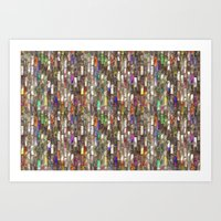 Rainbow Abalone Glass Ti… Art Print