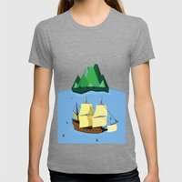 A Galleon on the High Seas Womens Fitted Tee Tri-Grey SMALL