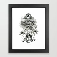 Framed Art Print featuring Demon by Niklas Forss